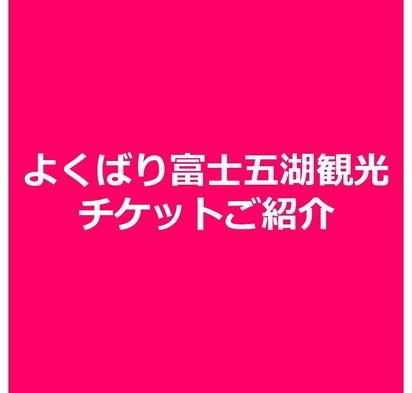 【富士急ハイランド&周遊】よくばり富士五湖観光チケット付プラン
