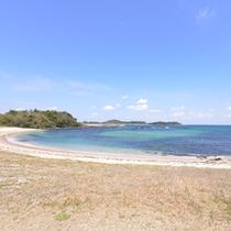 *【筒城浜海水浴場】日本の快水浴場100選に選ばれた壱岐随一のビーチ。宿から徒歩3分