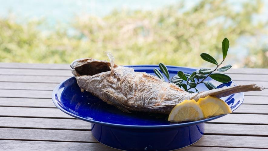 *【夕食一例】新鮮な旬の鮮魚はシンプルに焼き物で