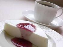 朝食デザート一例さっぱりとしたヨーグルト