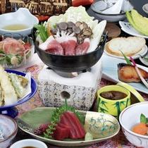 いのしし鍋会席(一例)