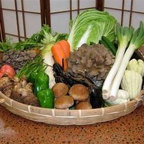 地野菜を使用しています