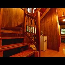【施設】共有冷蔵庫は階段下にあります