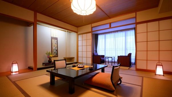 【禁煙】日本海を一望できる海側和室(バス・トイレ・広縁付)