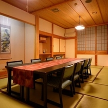 <館内施設>「鰊番屋」の個室お食事処の一例