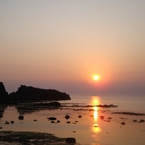 <周辺・景観>深浦日本夕陽百選 夕陽海岸
