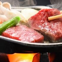 【夏】贅沢プラン 青森銘牛倉石牛の陶板ステーキ