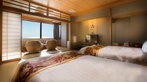 【最上階客室「天空」】オーシャンビューの特別室を愉しんで。
