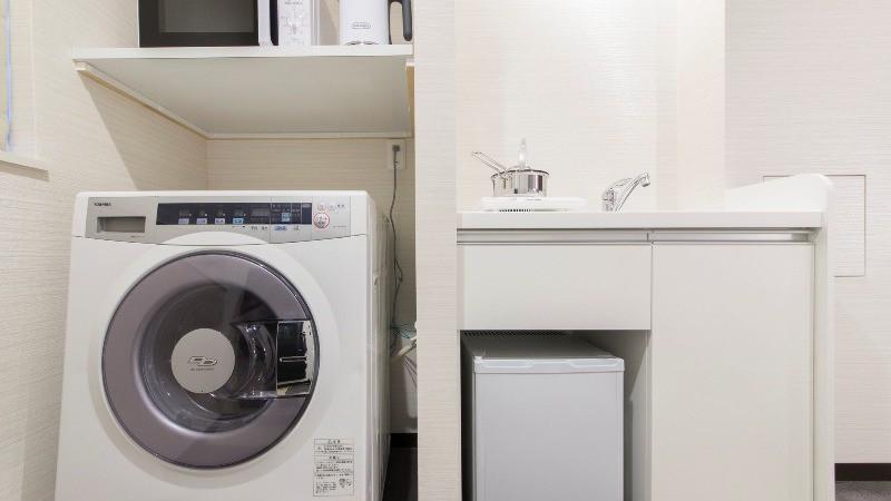 洗濯乾燥機&ミニキッチン