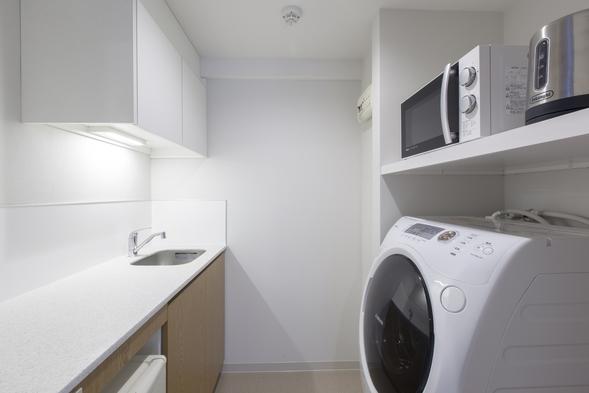 【中長期連泊プラン】7泊以上向け♪洗濯乾燥機&電子レンジ付客室!(朝食付)