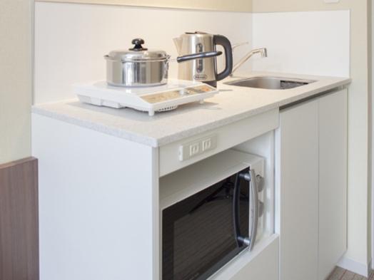 【スタンダードプラン】ひろびろシングル♪洗濯乾燥機とミニキッチン付(朝食なし)