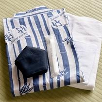 *部屋アメニティ/竹清オリジナルの浴衣をご用意しております。