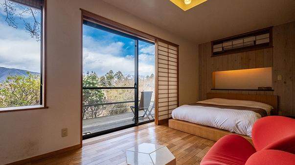 【離れの専用個室露天風呂付き】外輪山一望の「和洋室」35平米