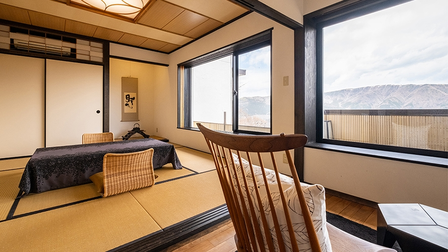 最新 【離れの専用個室露天風呂付き】外輪山一望の「和室」46平米