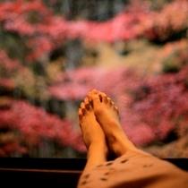 窓枠に足をのっけてみる。庭にのみ込まれるような感覚で。