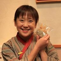 食いしん坊フロントの恵美ちゃん(笑)