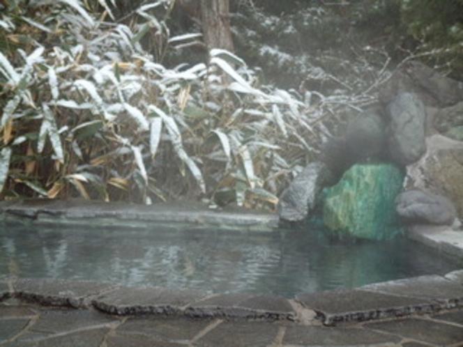 雪の竹林露天