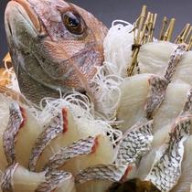 新鮮鯛しゃぶ!お刺身でもどうぞ♪