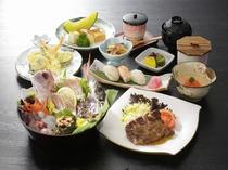 長崎牛ステーキと新鮮地魚盛合わせ