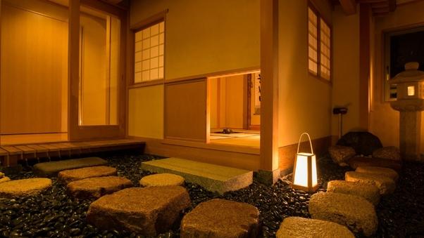 【貴賓室】東の間:和室+洋室+茶室+自家源泉檜半露天風呂・・
