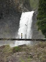 苗名滝 吊り橋