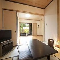 四季庵 由布岳を眺められる半露天風呂付部屋
