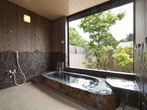 2間の半露天風呂