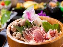 地鶏鍋(一例