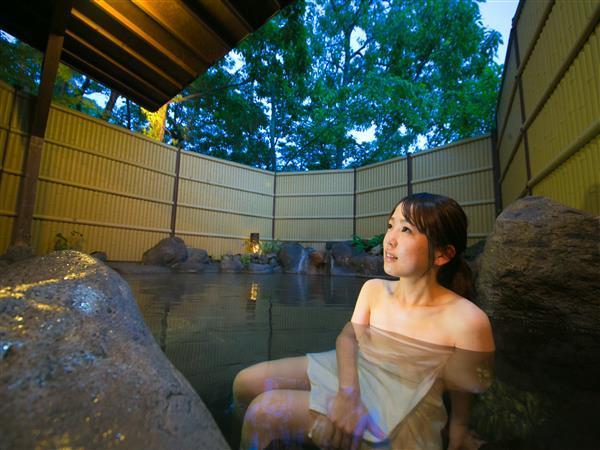 天然温泉の露天風呂
