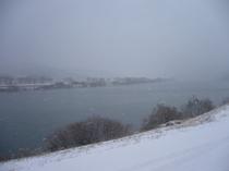 雪の北上川