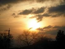 友愛からの夕日