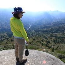 【太鼓岩】宮之浦岳をはじめ屋久島の奥岳が一望できます♪
