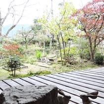 <別館和室>前庭を眺められる縁側付き。
