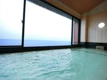 海を見ながらの入浴は最高の癒し 大浴場(男性用)