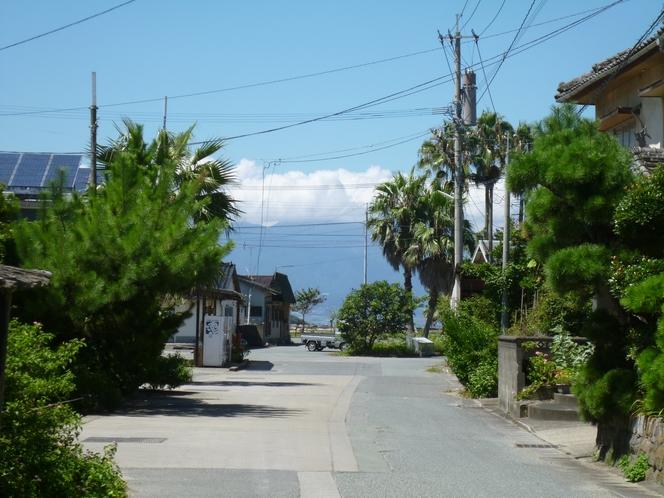 弓ヶ浜海岸までの道のり