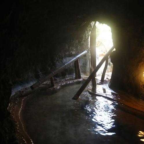 洞窟風呂 一例(出入口①)