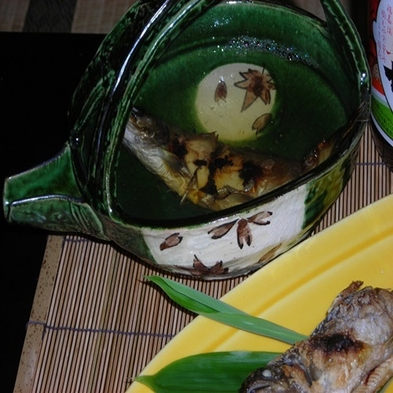 岩魚の骨酒とお料理をじっくり楽しむ贅沢プラン