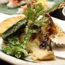 夕食に提供している天ぷらのイメージです