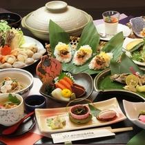 夕食に提供している特製みそ鍋です/料理一例