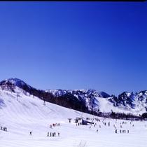 冬にはスキーが楽しめます