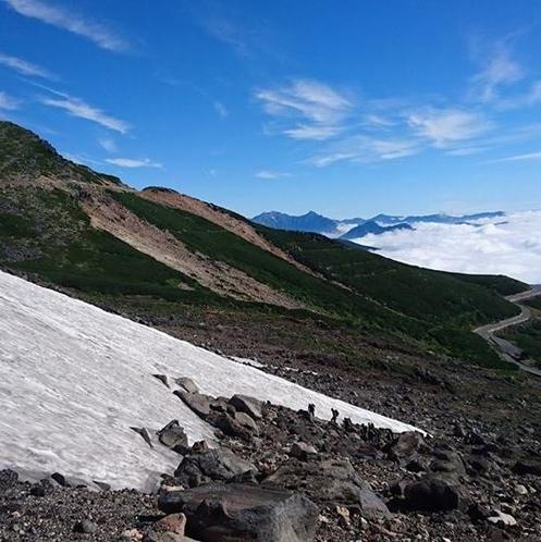 乗鞍岳 大雪渓からの眺め