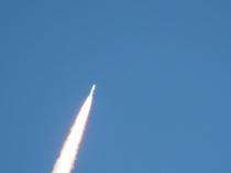 種子島のロケット発射の風景2