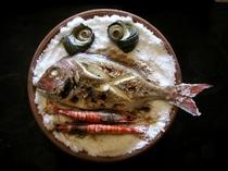 「宝楽焼」と呼ばれる郷土料理です。夕食でお楽しみください。