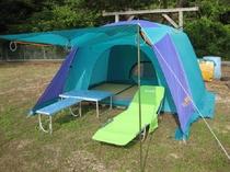 敷地内キャンプ場 貸出テントあります!