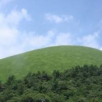 お宿うち山から見える「大室山」は国の天然記念物に指定されています。