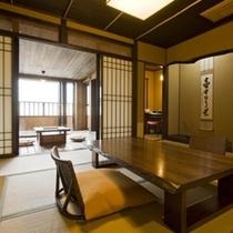 【月タイプのお部屋/1階和室】10畳の和室スペースは全室共通です