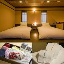 【雪タイプのお部屋/2階寝室】和ベッドで快眠を・・・