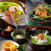 伊豆味覚をたっぷりご用意いたしました。季節の厳選された食材を丁寧に美しく。