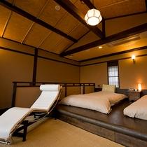 【月type】寝室から開かれた露天風呂からは緑と海の大自然の素晴らしさを感じて頂けます。
