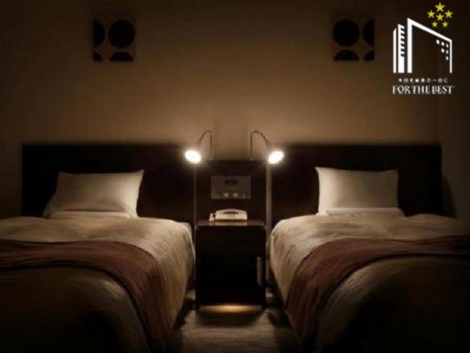 【ユニバーサルツインルーム30平米】ベッドサイズ120cm
